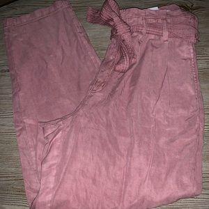 American Eagle pink flowy pants